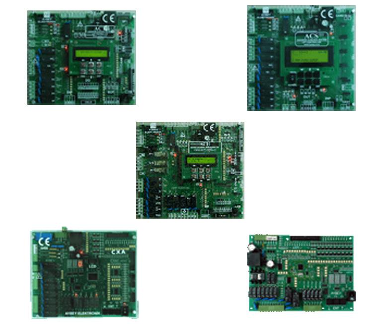 Comparison table of lift control boards